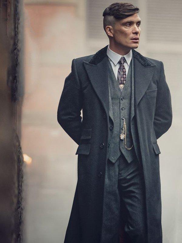 Cillian Murphy Peaky Blinders Black Coat