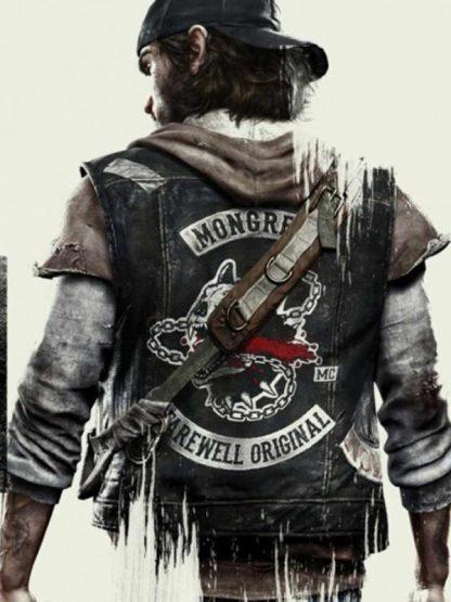Days Gone Deacon St. John Black Biker Leather Vest