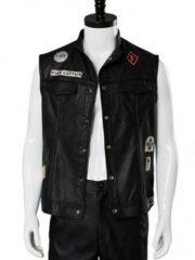 Days Gone Deacon St. John Black Biker Vest With Patches
