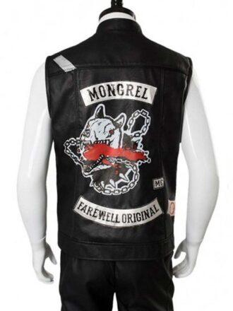 Deacon St. John Days Gone Black Leather Vest