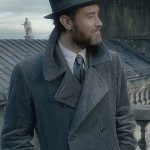 Fantastic Beasts 2 Albus Dumbledore Grey Corduroy Coat