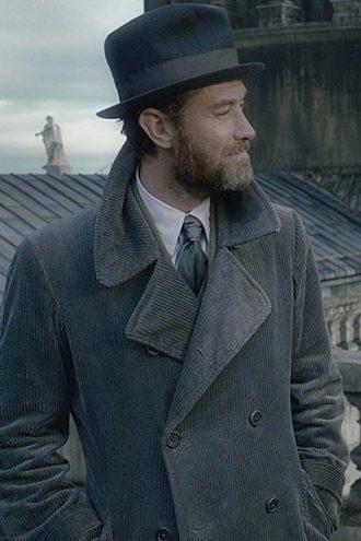 Fantastic Beasts 2 Albus Dumbledore Grey Corduroy Coat
