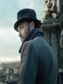 Fantastic Beasts Jude Law Grey Corduroy Double Breasted Coat