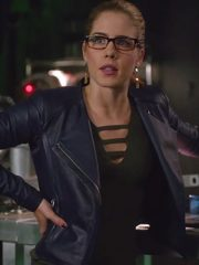 Felicity Smoak Arrow Leather Jacket
