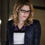 Felicity Smoak Arrow S05 Blue Leather Jacket