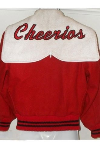 Glee Cheerios Cheerleading Red and White Varsity Jacket