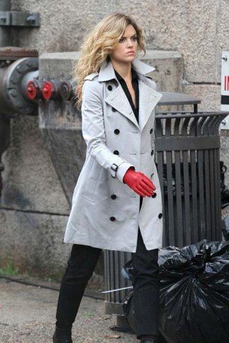 Gotham Erin Richards Double Breasted Cotton Coat
