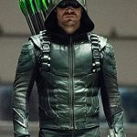 Green Arrow season 5 Oliver Queen Leather Jacket