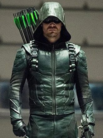 Green Arrow season 5 Oliver Queen Leather Jacket