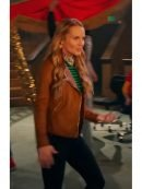 High School Musical kate reinders Biker Leather Jacket