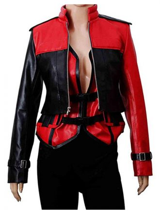 Injustice 2 Harley Quinn Red & Black Jacket