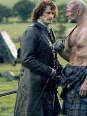Jamie Frasers Outlander Sam Heughan Leather Coat