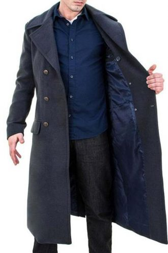 John Barrowman Torchwood Double Brasted Grey Coat