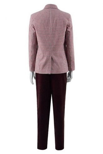 Joker Joaquin Phoenix Plaid Wool Blazer