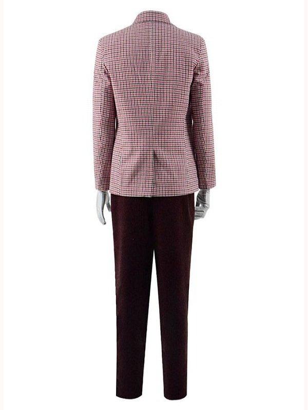 Joker Joaquin Phoenix Plaid Wool Blazer
