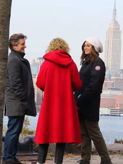Julia Garner Modern Love Hooded Coat