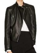 Juliana Harkavy Arrow Leather Biker Jacket