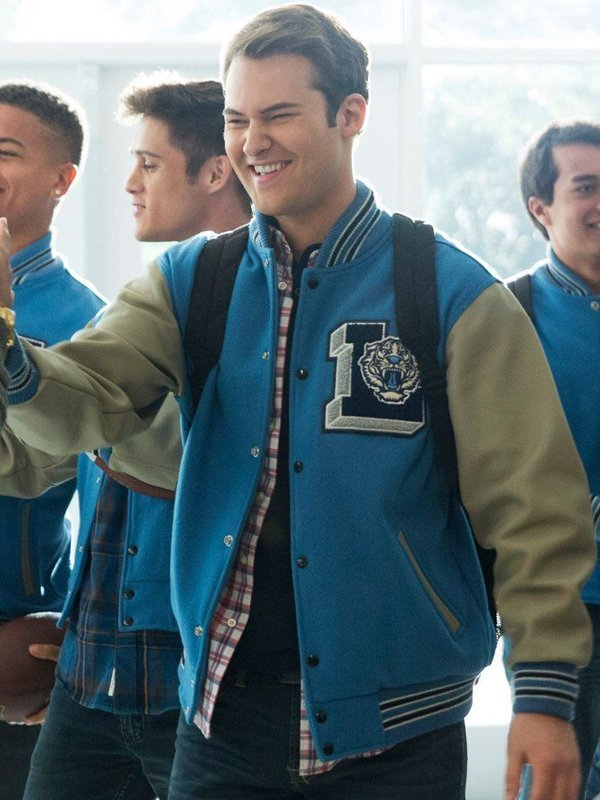 Justin Foley 13 Reasons Why Blue Versity Jacket