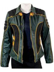 Katie Cassidy Arrow Season 08 Black Leather Jacket