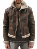 Leon Kennedy Resident Evil 4 Brown Fur Jacket