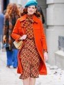 Lexi Modern Love Orange Wool Coat