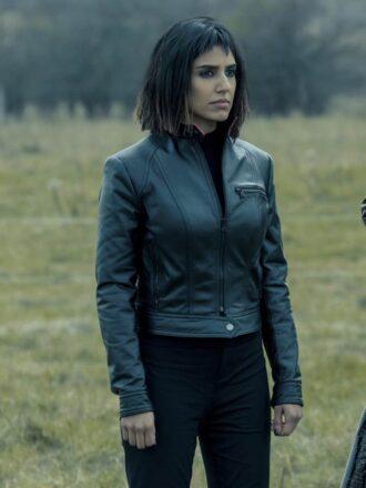 Lila Pitts The Umbrella Academy S02 Black Leather Jacket