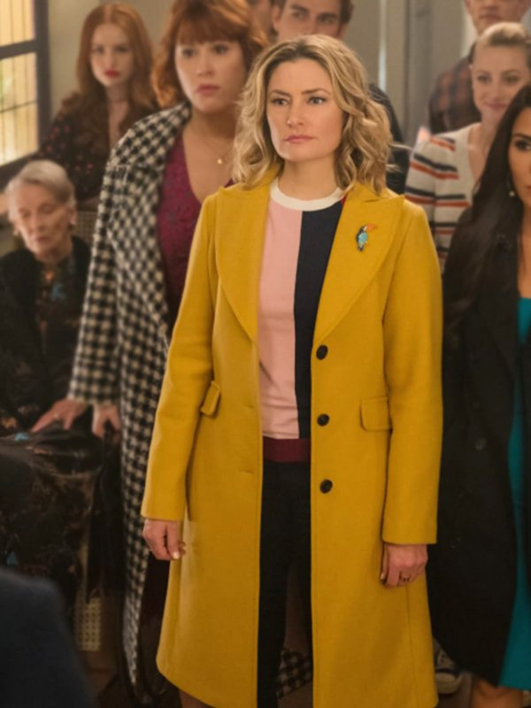 Mädchen Amick Riverdale Alice Cooper Yellow Trench Coat