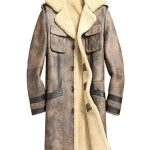 Mens Sheepskin Shearling Brown Leather Jacket