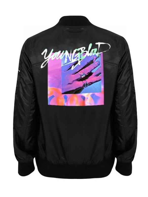 Michael Clifford Youngblood Black Satin Jacket