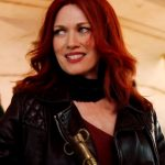 Mireille Enos Good Omens Black Leather Jacket
