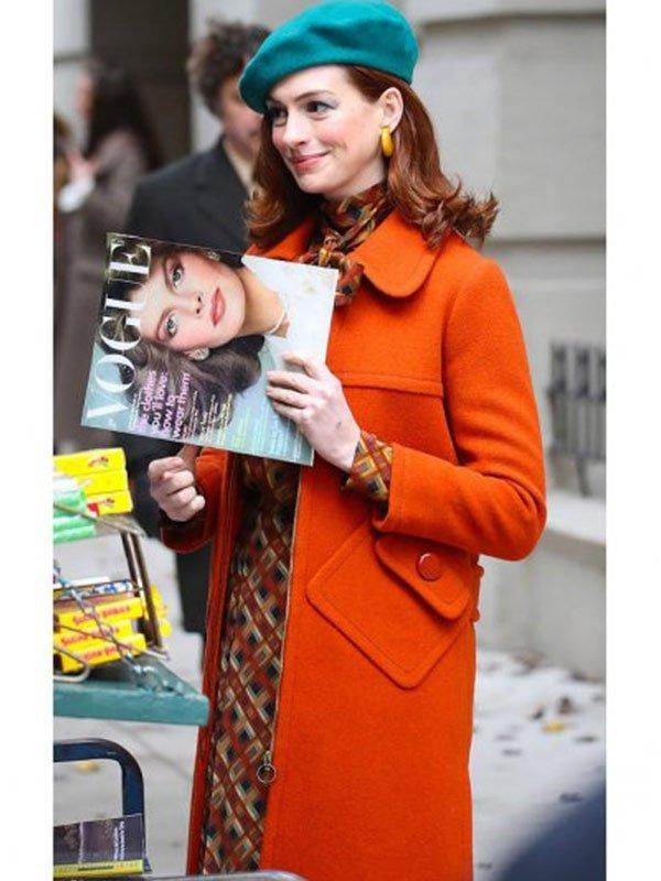 Modern Love Anne Hathaway Wool Coat