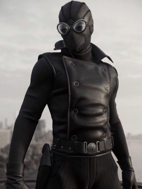 Nicolas Cage Spider Man Noir Black Leather Vest