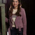 Nini High School Musical Pink Biker Leather Jacket
