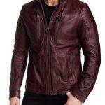 Oliver Red Aviator Cafe Racer Leather Jacket