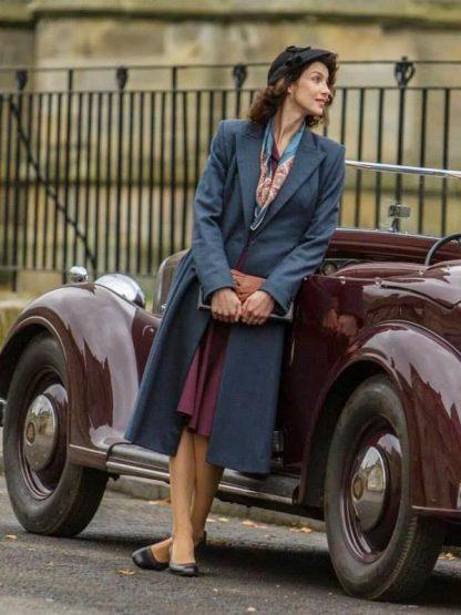 Outlander Season 03 Caitriona Balfe Grey Trench Coat