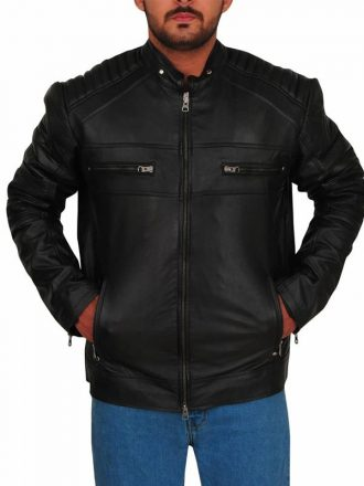 Riverdale Chuck Clayton Cafe Racer Leather Jacket