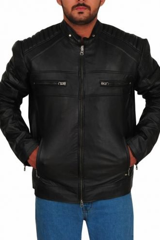 Riverdale Chuck Clayton Cafe Racer Leather Jacket