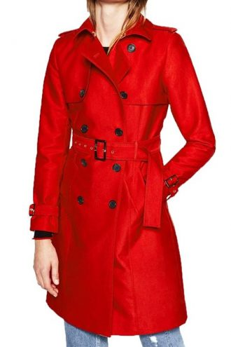 Riverdale Polly Cooper Double Breasted Red Wool Coat