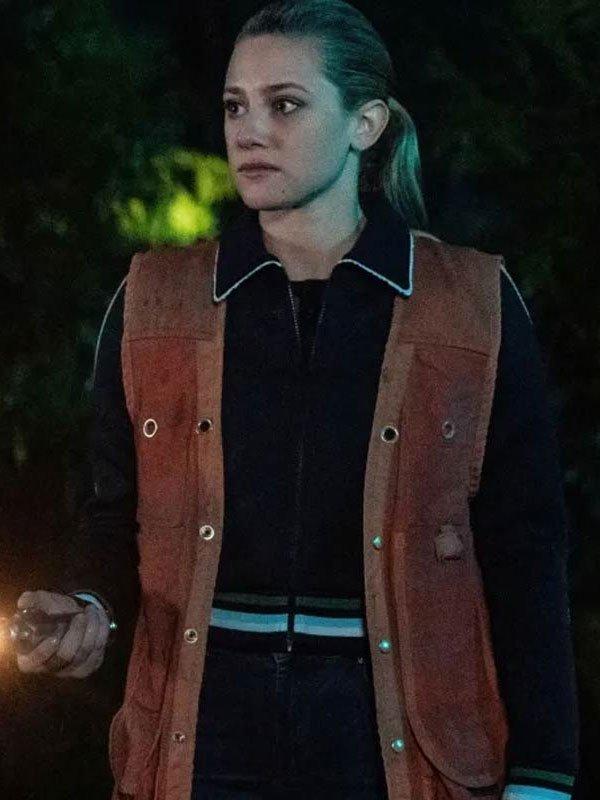 Riverdale S04 Lili Reinhart Brown Leather Vest