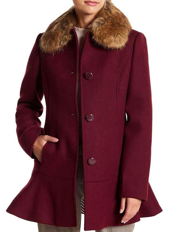 Riverdale S04 Veronica Lodge Shearling Wool Coat