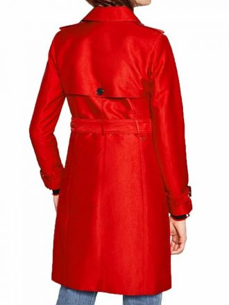Riverdale Tiera Skovbye Double Breasted Red Trench Coat