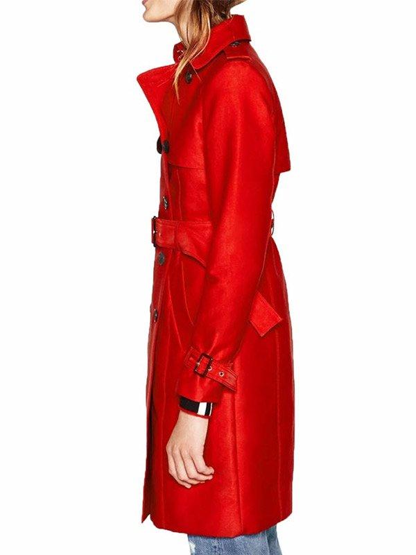 Riverdale Tiera Skovbye Red Trench Coat