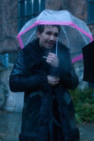 Robert Sheehan The Umbrella Academy Wool Trench Coat