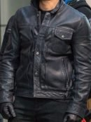 Sebastian Stan The Falcon And The Winter Soldier Black Jacket