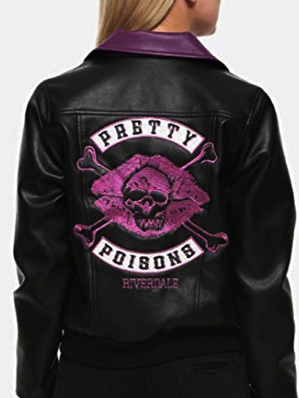Skull Kiss Riverdale Vanessa Morgan Black Leather Jacket
