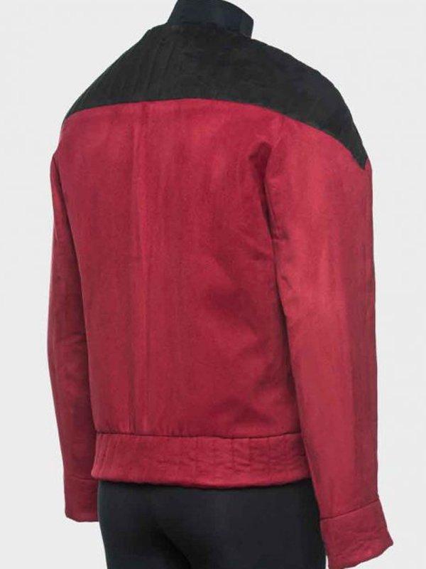 Star Trek Next Generation Patrick Stewart Red Jacket