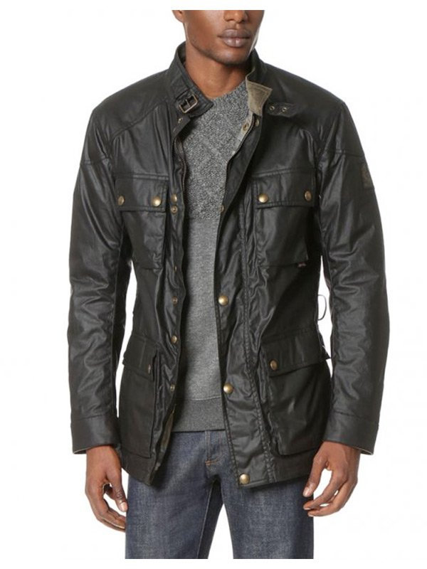 Stephen Amell Arrow Oliver Roadmaster Black Leather Jacket