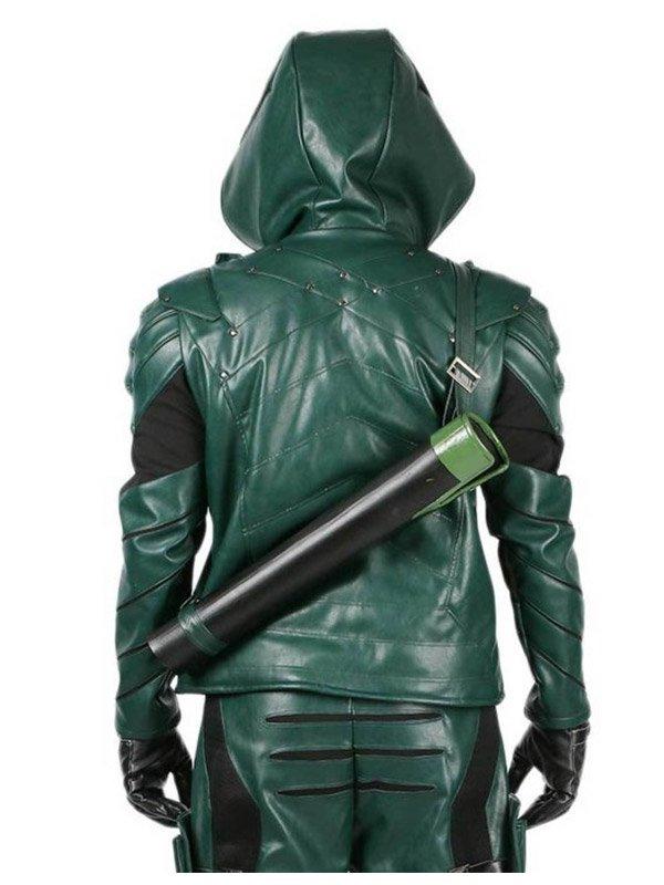Stephen Amell Green Arrow SO5 Leather Jacket