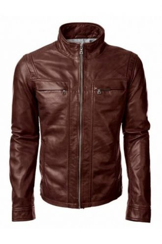 TV Series Arrow David Ramsey Brown Leather Jacket