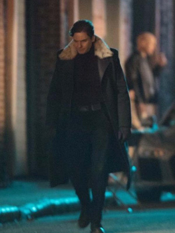 The Falcon And The Winter Soldier Daniel Bruhl Shearling Coat
